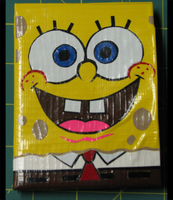 Spongebob Duct Tape Wallet by gotz-pierced