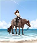 Beach waves and beach babes