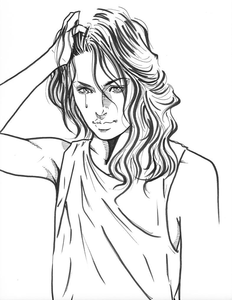 From Shadows to Lights   Harsh Raj Baruah  Drawing Of A Sad Girl Tumblr