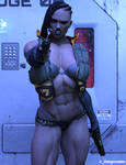 A-1787 Cybernetic Assassin by srfantasycreations