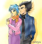 Vegeta and Bulma