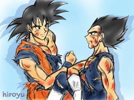 Goku and Vegeta 9 by hiroyu732