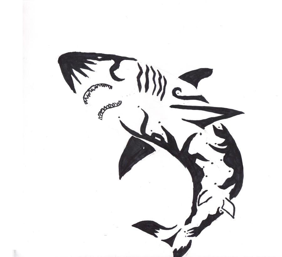 Tribal Shark by ~AnimeWolveslover on deviantART