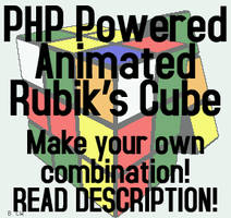 PHP Animated Rubik's Cube by zavaboy