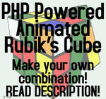 PHP Animated Rubik's Cube