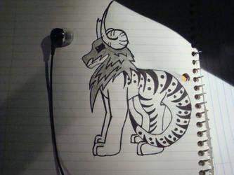 horned tiger by KarenTheDrawer