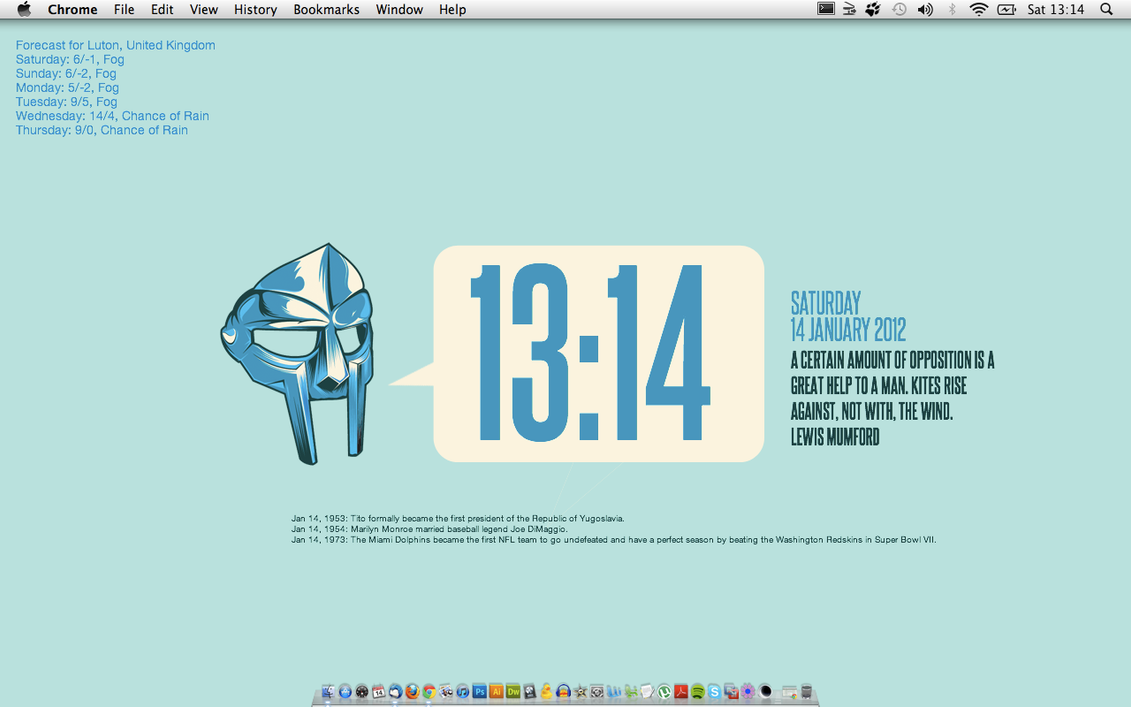 My Geektool Desktop by munchester2cool