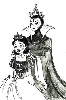 Queen Grimhilde and Princess Snow White