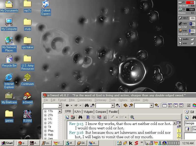 my metal bubbles desktop by zorkon65