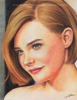 Chloe Grace colored pencil by Abremson