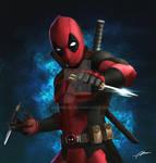 Deadpool with balisong