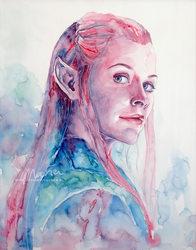 Tauriel: Captain of the Guard by MariaBruggeman
