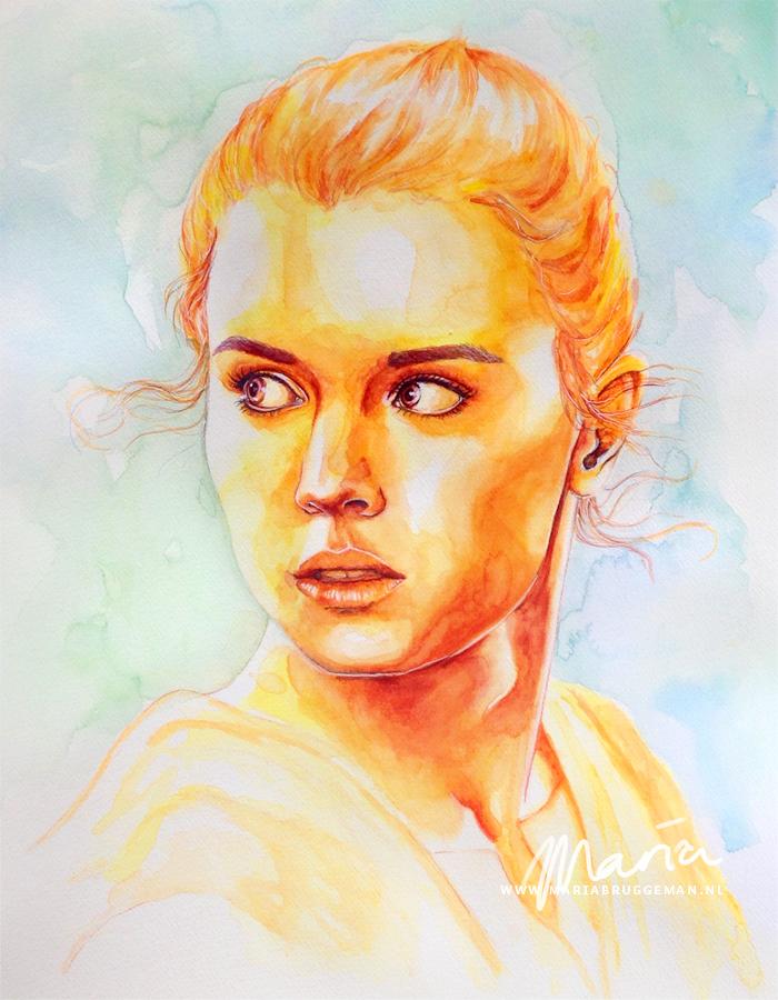 The Force Awakens: Rey by MariaBruggeman