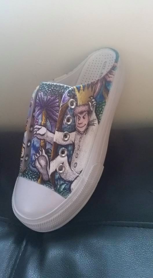 WHERE THE WILD THINGS ARE shoe one by kiddgrimm
