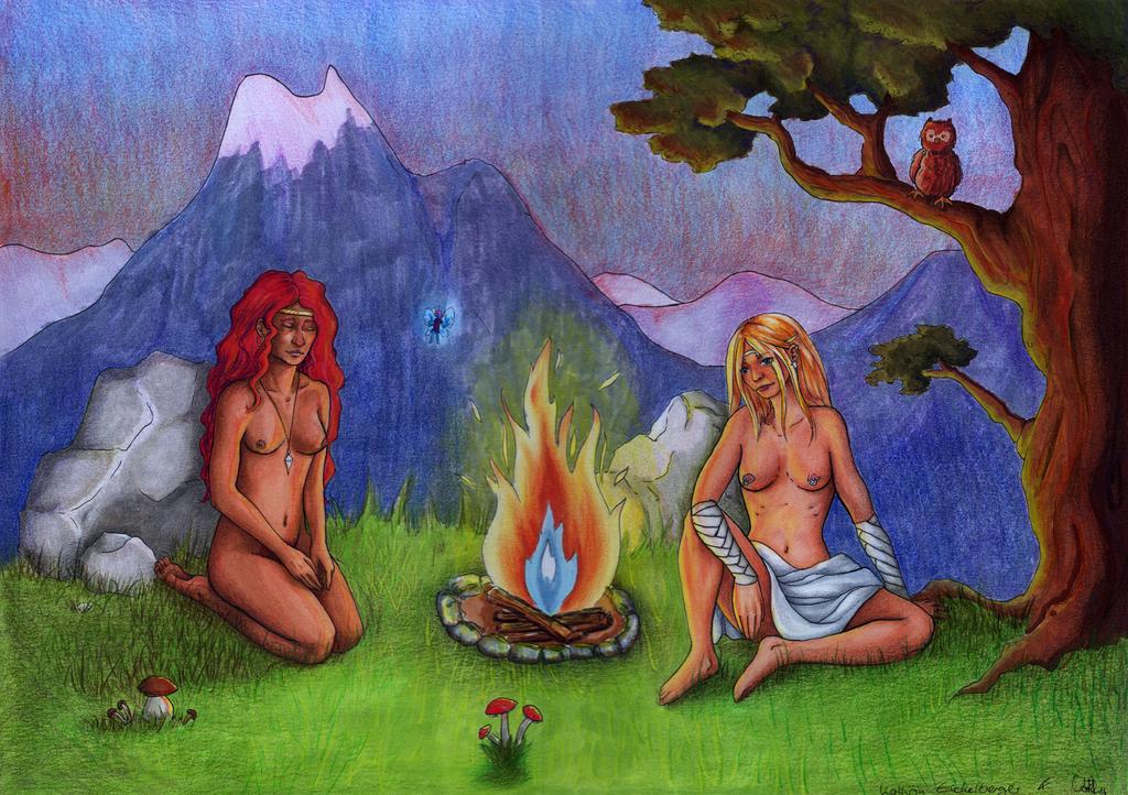 Audur und Koni by chinahaeschen