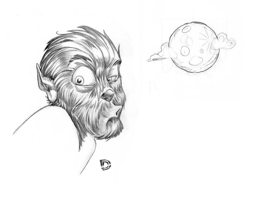 Wolfman sketch by DouggieDoo