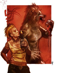 Alida ''Cut-at-the-throat-of-the-wyrm'' by Volkniv