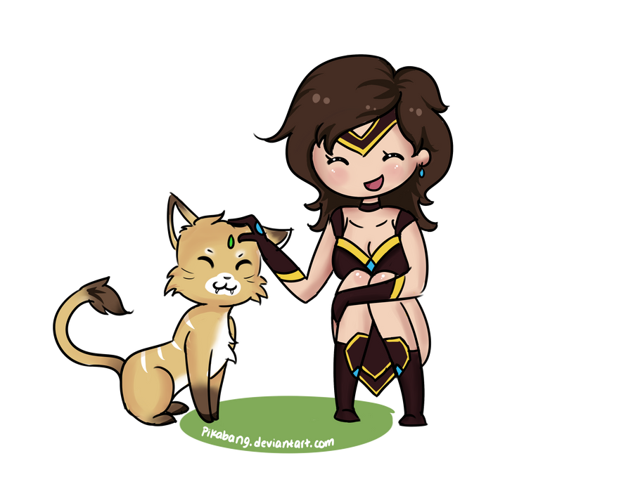 Sivir and Nidalee by pikabang
