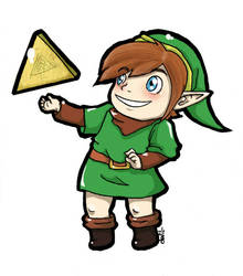 Chibi Link LoZ by Mother-nono