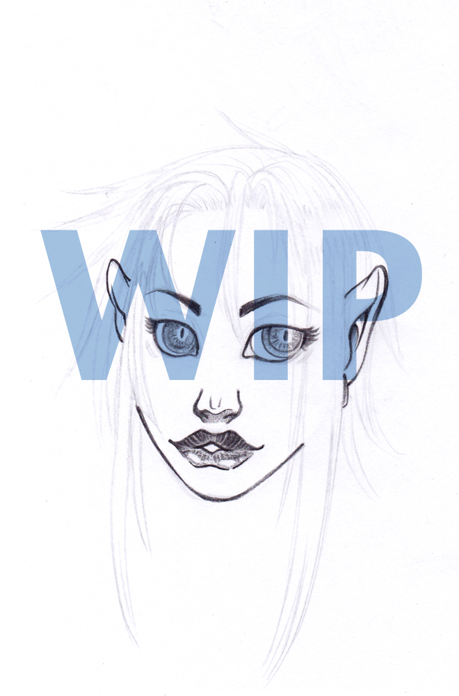 Face of a demoness WIP by BLACKRUZZIAN