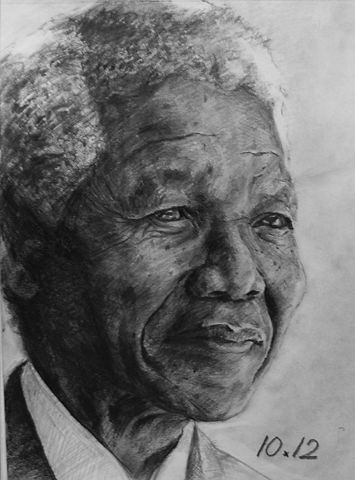 Nelson Mandela by jiangming