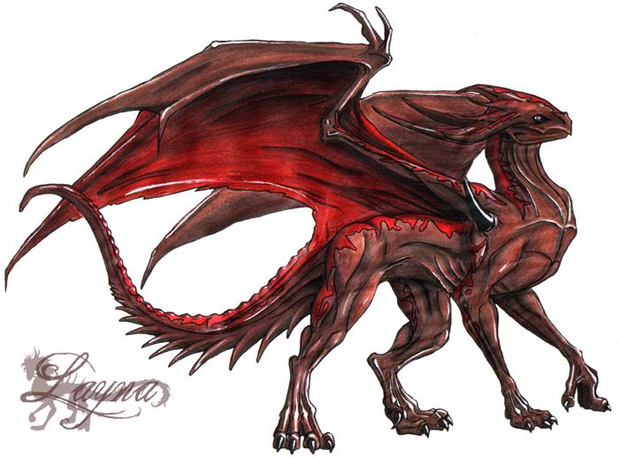 Brown Dragon by Laynas on DeviantArt