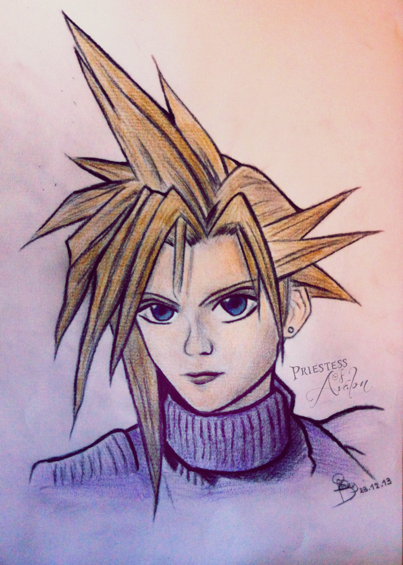 Cloud Strife Drawing by Dragunova-Cosplay