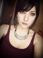Morrigan from Dragon Age Make up + wig