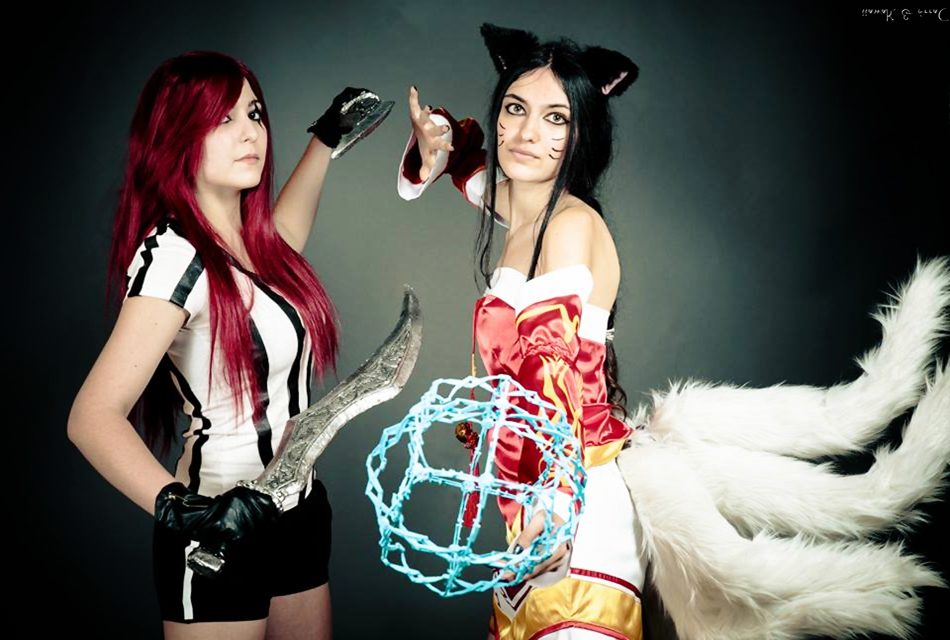Red Card Katarina Ahri Cosplay League of Legends by ... Lol Ahri Hot