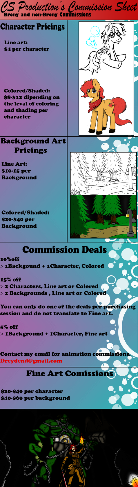 Comition Sheet by CanvasStories