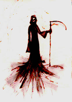 Grim Reaper Water Colour