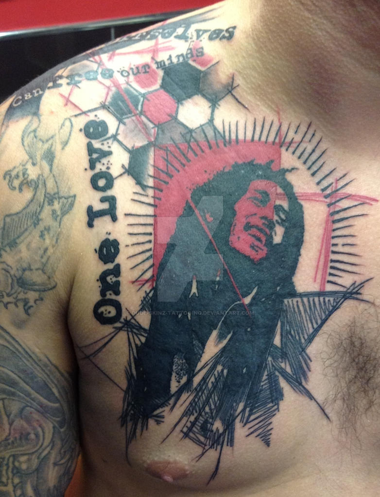Bob marley by Dude-Skinz-Tattooing