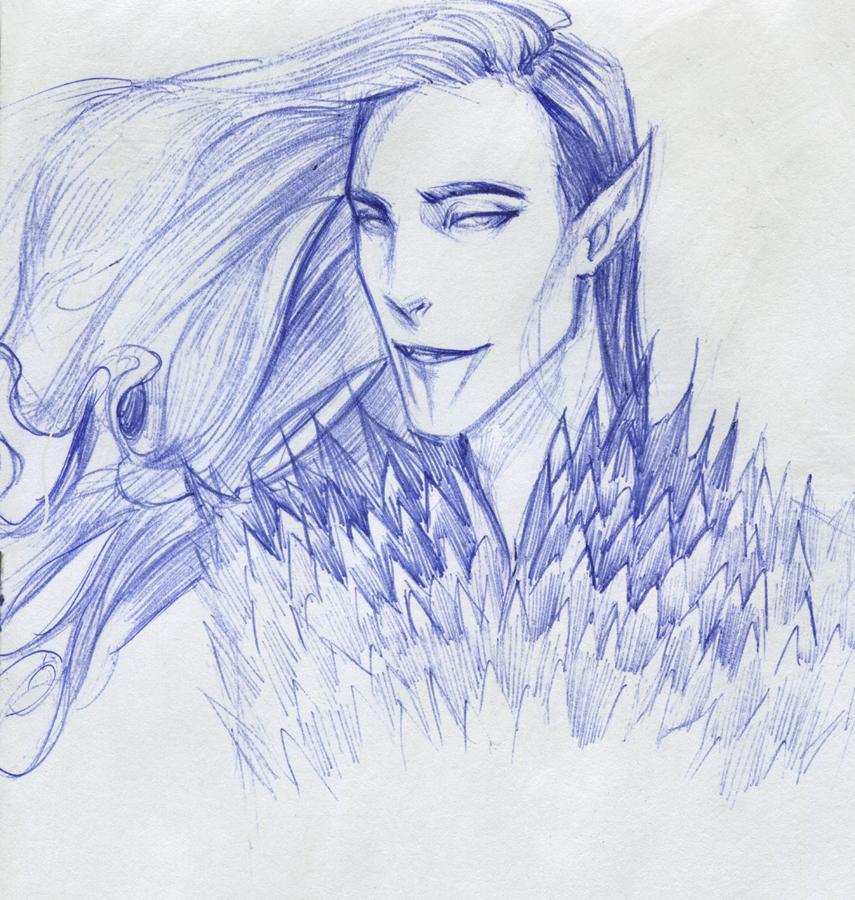 Melkor sketch by anastasiyacemetery