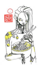 Android with ramen