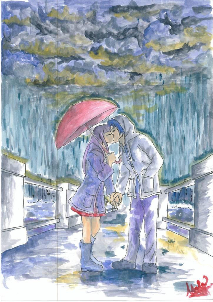 Kissing in the Rain by MohammedAdel on DeviantArt