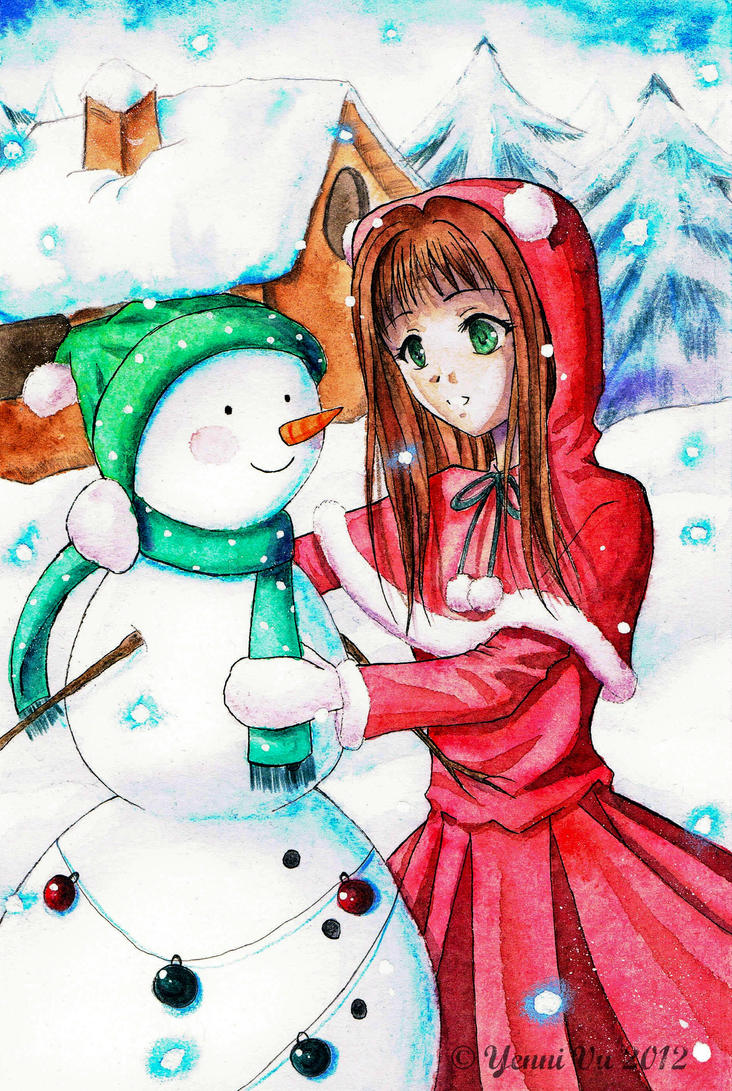 My snowy Friend by Yenni-Vu