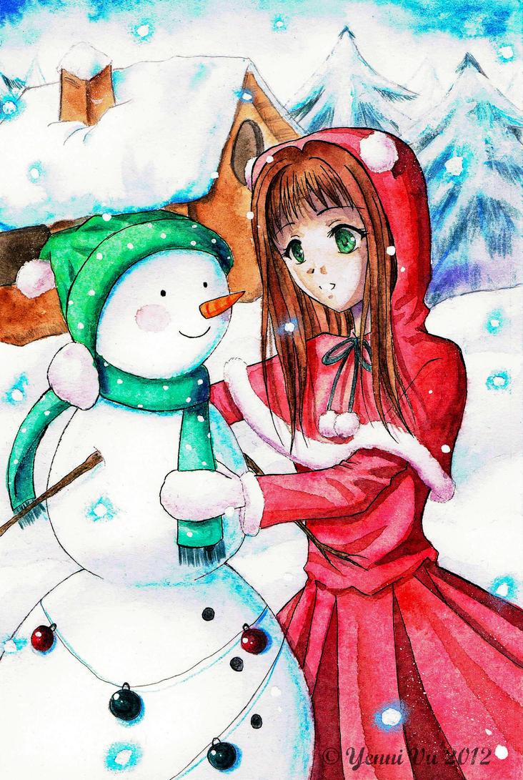 My snowy Friend by Yenni-Vu