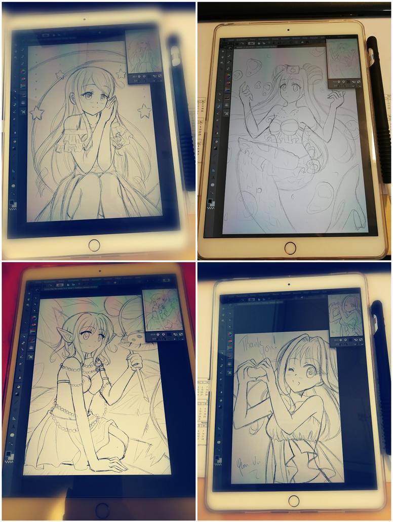 iPad Pro Sketch Collection by Yenni-Vu