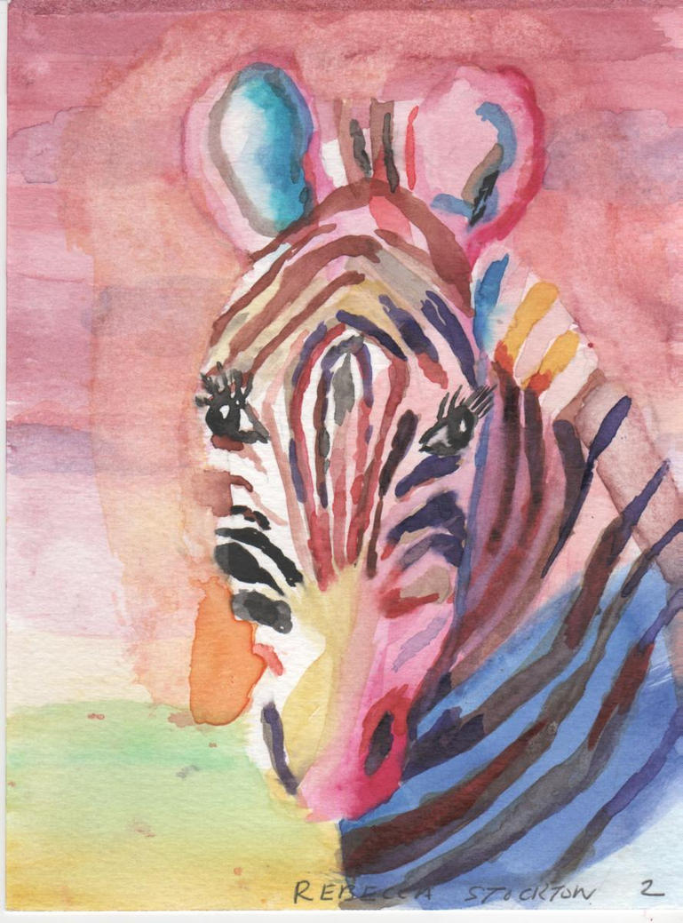 Colorful Zebra Print Nail Art Tutorial: The Colorful Zebra By Balletdivagirl On DeviantArt