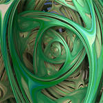 Green Swirl Dragon mapped