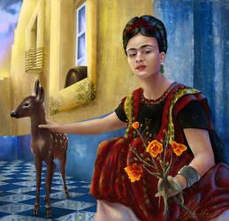 Frida Kahlo by PollyUranus