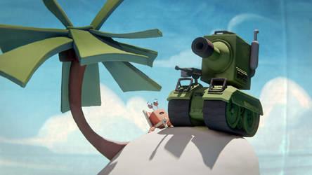 'Krab en Meeuw' animation still
