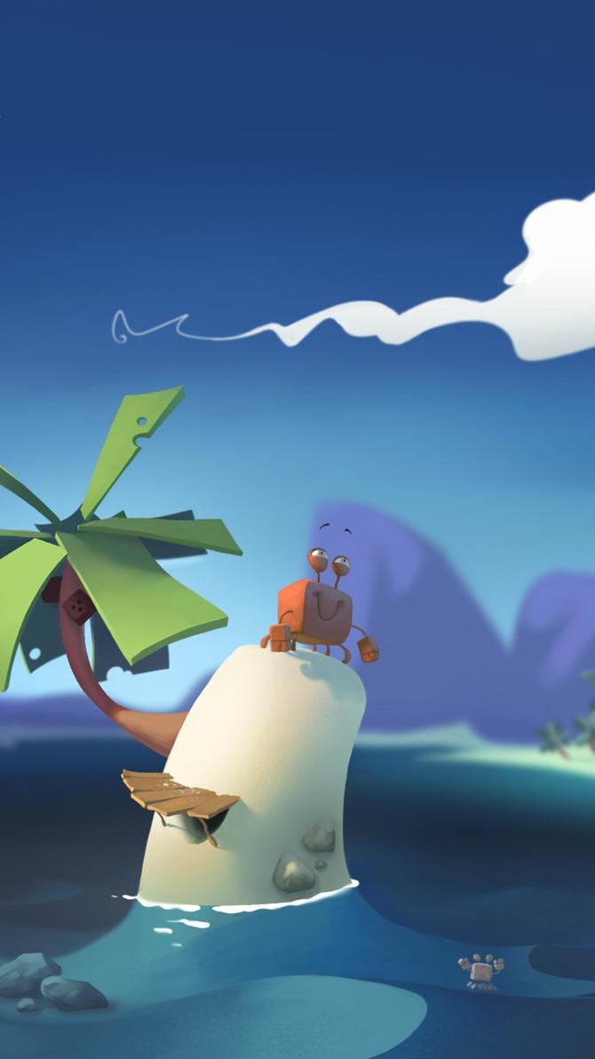 'Krab en Meeuw' initial concept art by VincentBisschop