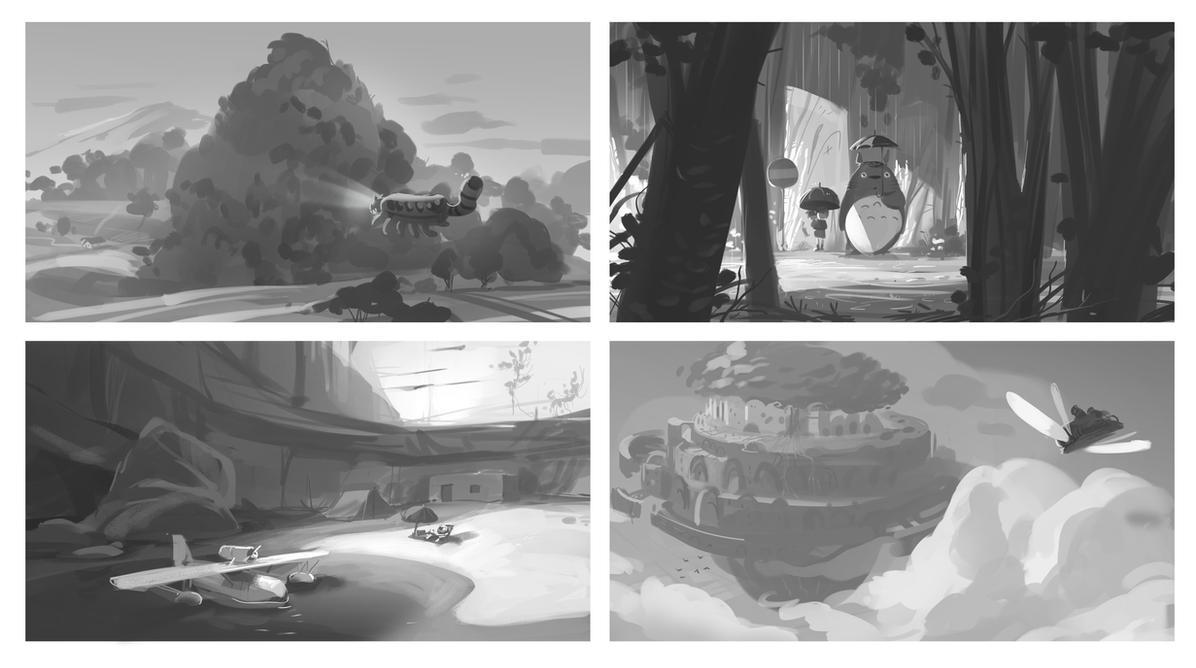 Some Ghibli thumbnails by VincentBisschop