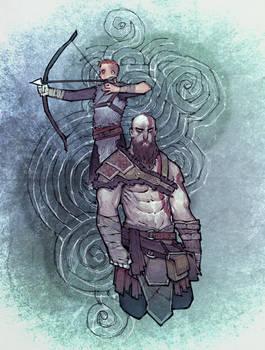 Kratos and grown-up Boy