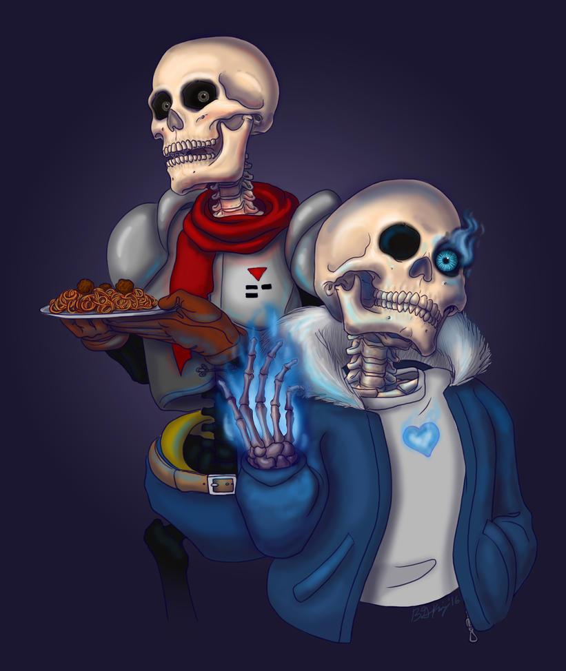 Skeleton Bros by CrimsonGriffin