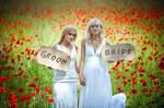 lesbian  wedding by andrez