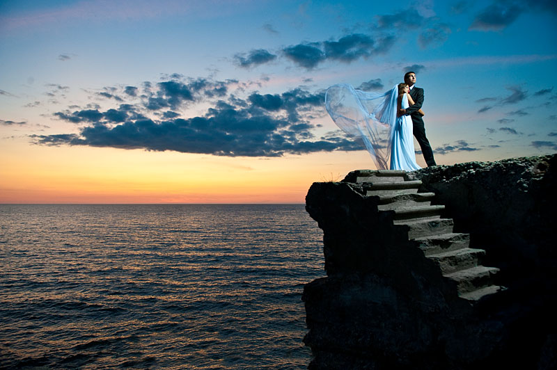wedding sunset by andrez