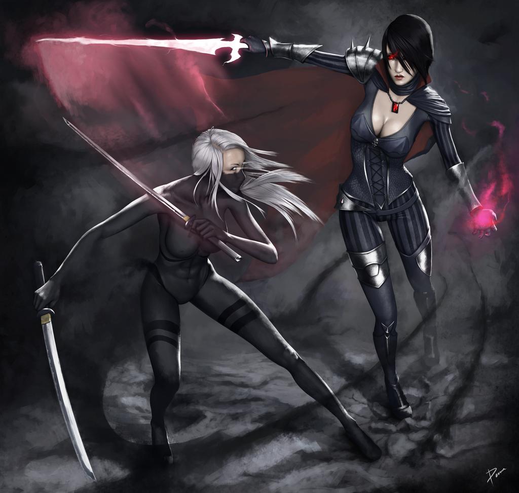 Vampyre VS Ninja by PemaMendez