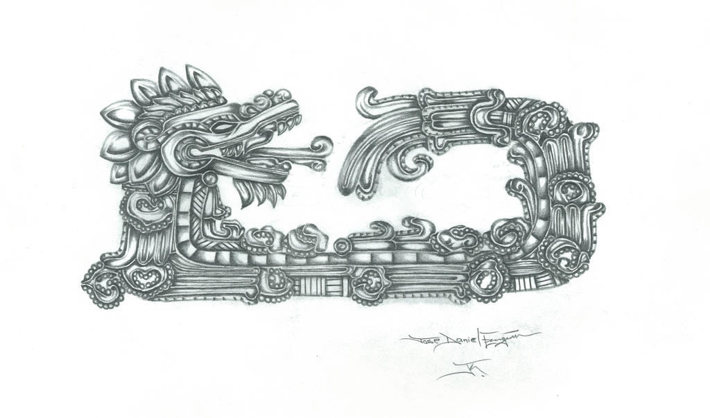 the gallery for quetzalcoatl head tattoo design. Black Bedroom Furniture Sets. Home Design Ideas